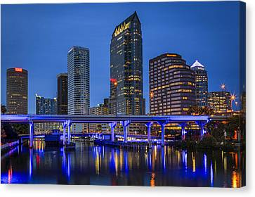 Tampa Night Canvas Print