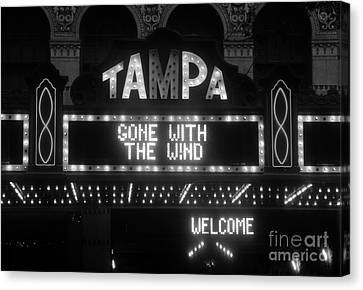 Tampa Theatre 1939 Canvas Print by David Lee Thompson