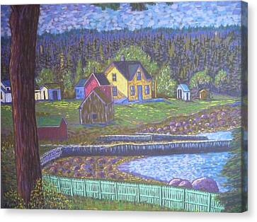 Tancook Houses Canvas Print by Rae  Smith