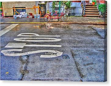 Tandem Bicycle On Grove Street Canvas Print