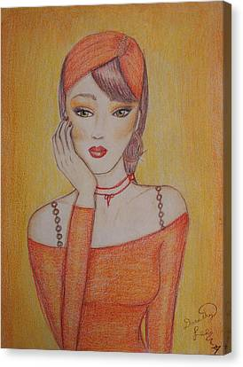 Tangerine Dream Canvas Print by Dorothy Lee