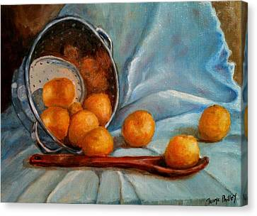 Tangerine Family Portrait Canvas Print by Terrye Philley