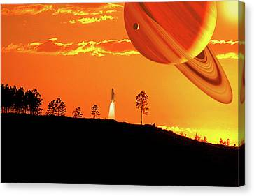 Tangerine Skies Canvas Print