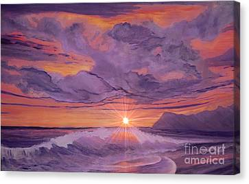 Tangerine Sky Canvas Print by Holly Martinson
