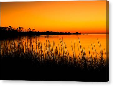 Tangerine Sunset Canvas Print by Rich Leighton