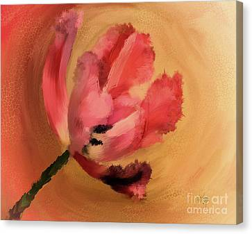 Canvas Print - Tangerine Tulip In A Twirly Tizzy by Lois Bryan