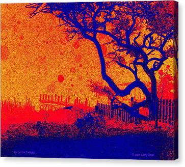 Tangerine Twilight Canvas Print