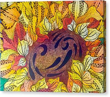 Tangled Sunflower Canvas Print