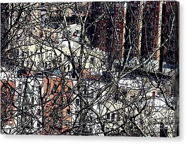 Tangled Town Canvas Print by Sarah Loft