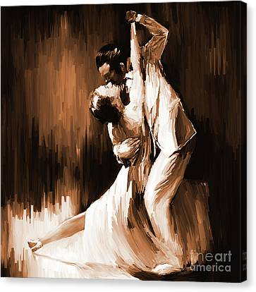 Tango Couple Dance 01 Canvas Print by Gull G