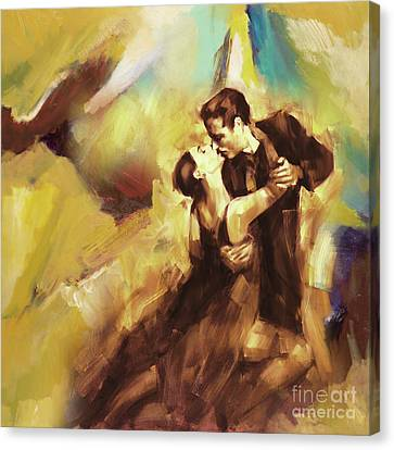 Tango Couple Dance 07 Canvas Print