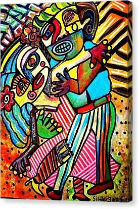 Tango Dance Of Love Canvas Print by Sandra Silberzweig