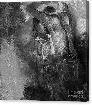 Tango Dancers 01 Canvas Print by Gull G