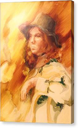 Canvas Print featuring the painting Tangy by Denise Fulmer