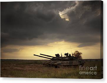 Tank At The Landfill Canvas Print by Caio Caldas