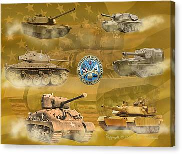 Tanks Four Canvas Print