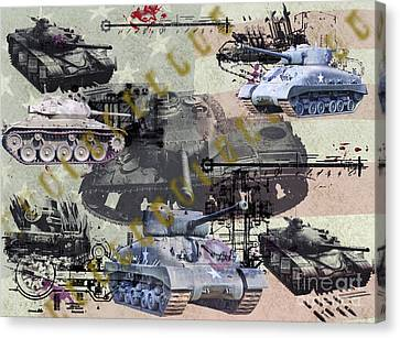 Canvas Print featuring the photograph Tanks by Ken Frischkorn