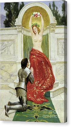 Armor Canvas Print - Tannhauser In The Venusburg by John Collier