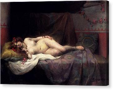 Tanoux Adrien Henri L Odalisque Canvas Print