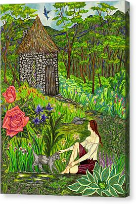 Tansel's Garden Canvas Print