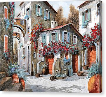 Tanti Tanti Fiori Canvas Print by Guido Borelli