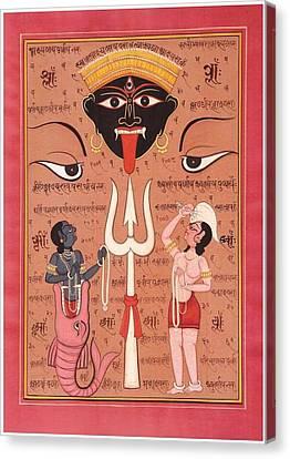 Kali Yantra Canvas Print - Tantric Devi by Tantric Baba