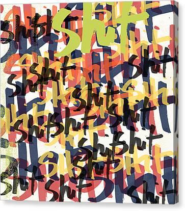 Tantrum- Art By Linda Woods Canvas Print by Linda Woods