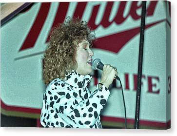 Tanya Tucker Canvas Print - Tanya On Miller High Life Stage by Mike Martin