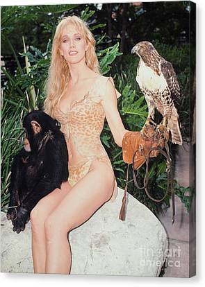 Tanya Roberts As Queen Sheena Canvas Print by MMG Archives