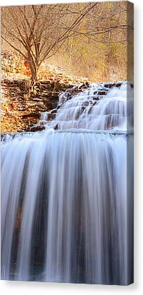 Tanyard Creek Waterfall Arkansas Canvas Print by Lourry Legarde