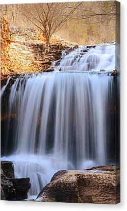 Tanyard Creek Waterfall Bella Vista Arkansas Canvas Print by Lourry Legarde