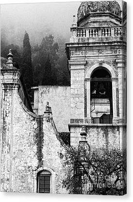 Taormina Church Detail Canvas Print