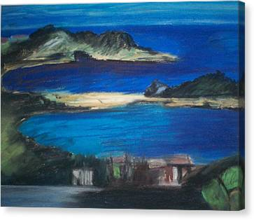 Taormina Veduta Canvas Print by Angela Puglisi