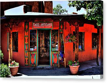 Taos Artisans Gallery Canvas Print by David Patterson