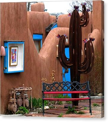 Taos Cactus Canvas Print by Kathleen Stephens