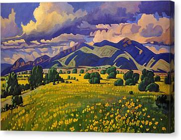 Taos Fields Of Yellow Canvas Print by Art West