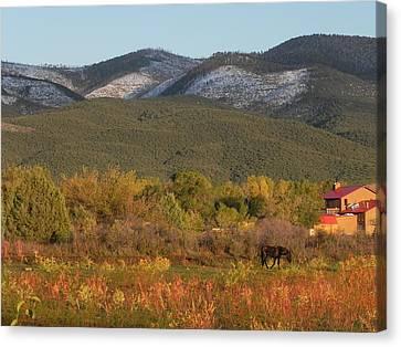 Taos New Mexico Scene Canvas Print