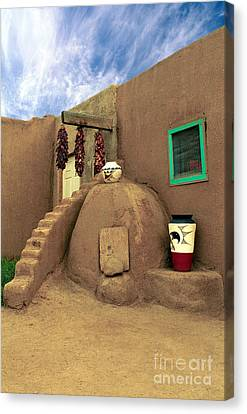 Taos Oven Canvas Print by Jerry McElroy