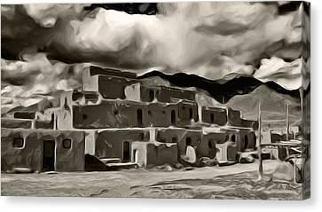 Taos Pueblo Canvas Print by Lou  Novick