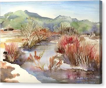 Taos Pueblo Canvas Print by Yolanda Koh