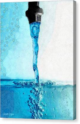 Tap Water B - Pa Canvas Print by Leonardo Digenio