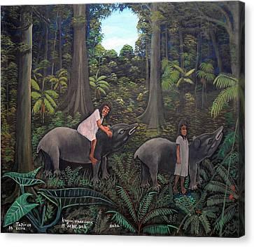 Tapir In The Jungle Canvas Print