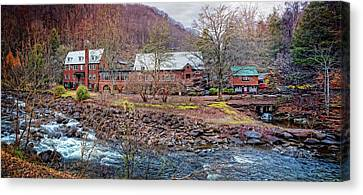 Canvas Print featuring the photograph Tapoco Lodge by Debra and Dave Vanderlaan