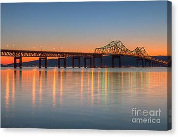Tappan Zee Bridge After Sunset II Canvas Print by Clarence Holmes