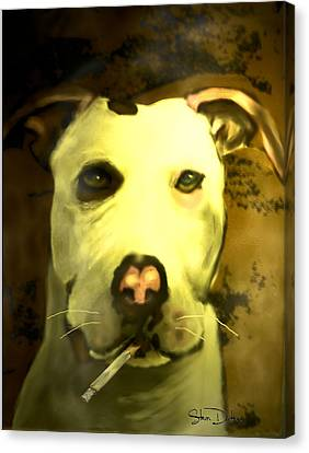 Tar Pit Canvas Print by Stevn Dutton