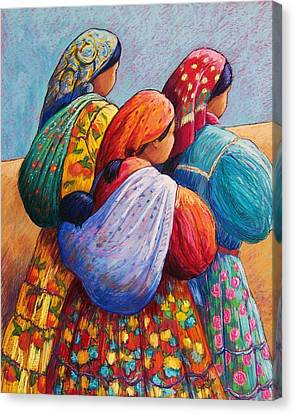 Folkloric Canvas Print - Tarahumara Women by Candy Mayer
