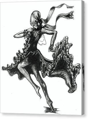 Tarantella Canvas Print by Yvonne Ayoub