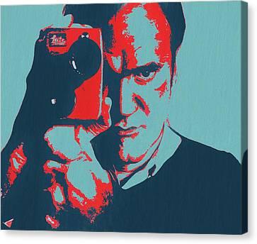 Tarantino Pop Art Canvas Print by Dan Sproul