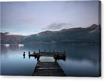 Canvas Print featuring the photograph Tarbet Twilight by Grant Glendinning