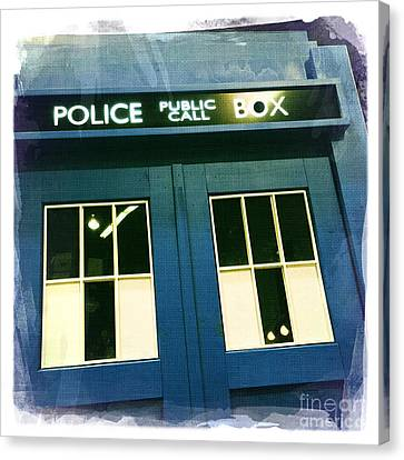 Tardis Dr Who Canvas Print by Nina Prommer